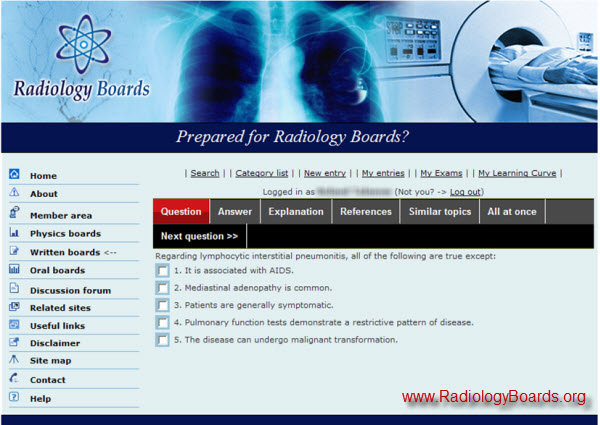 A free online program for Radiology Boards preparation